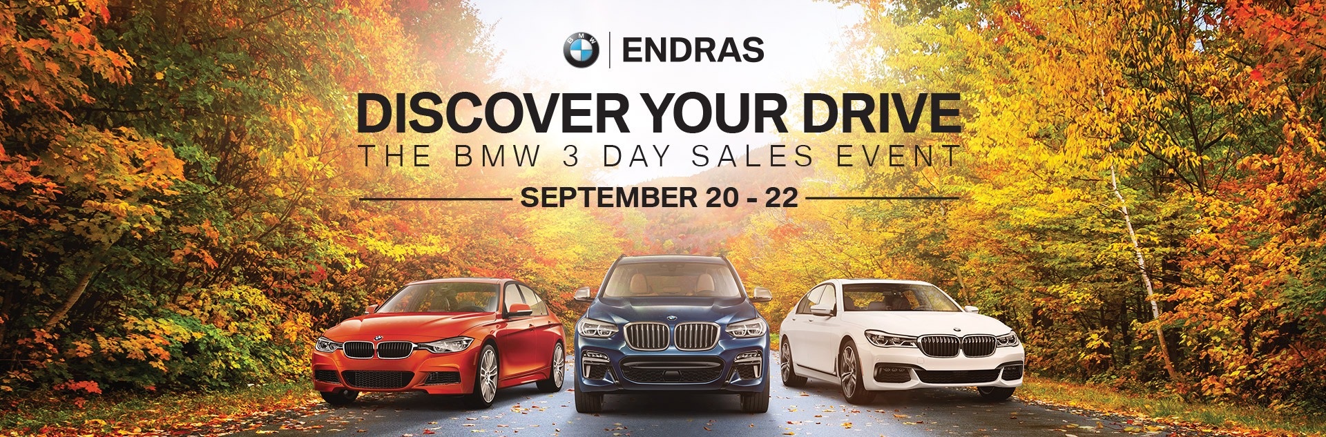 BMW 3-Day Sale at Endras BMW - Private Sale September 20-22