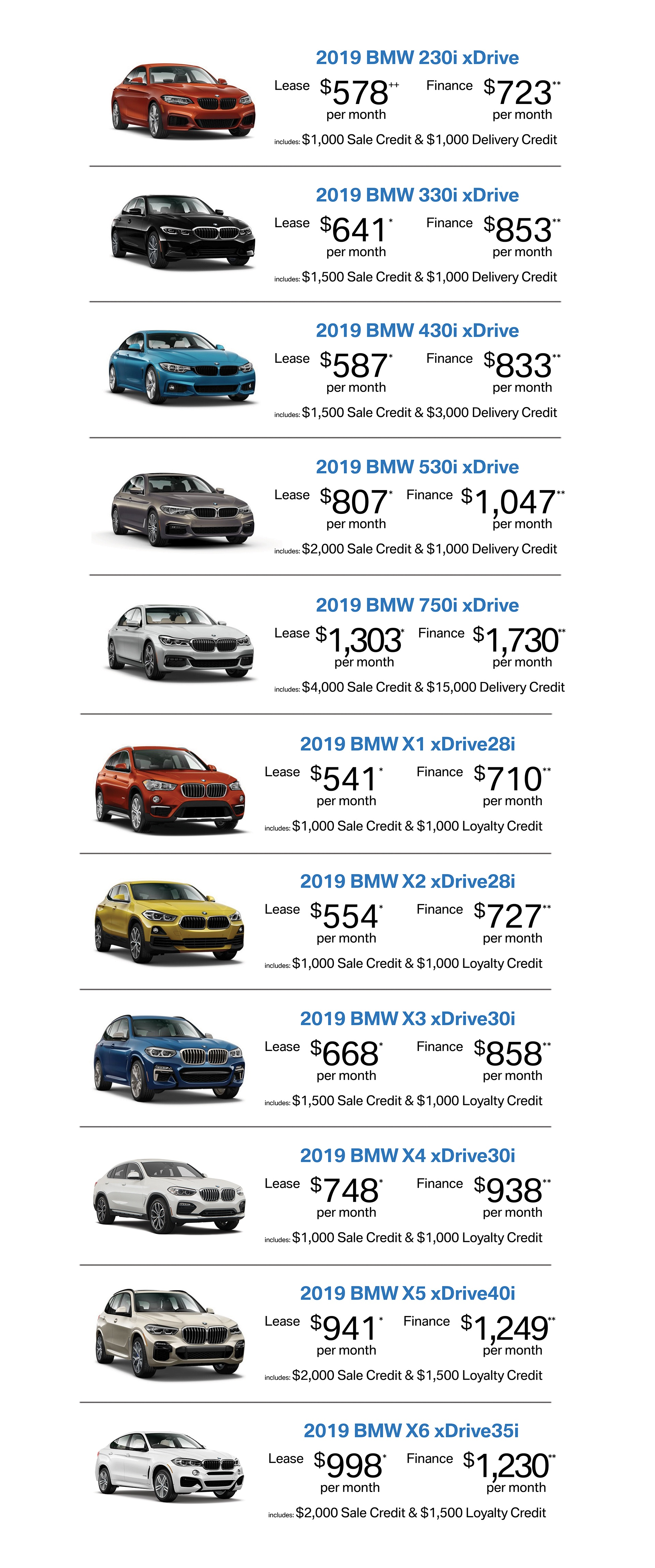 bmw sale promotions specials