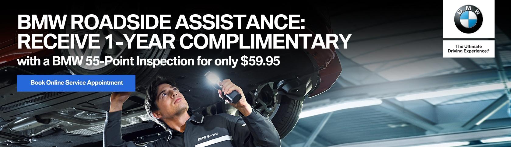 bmw roadside assistance 55 point inspection