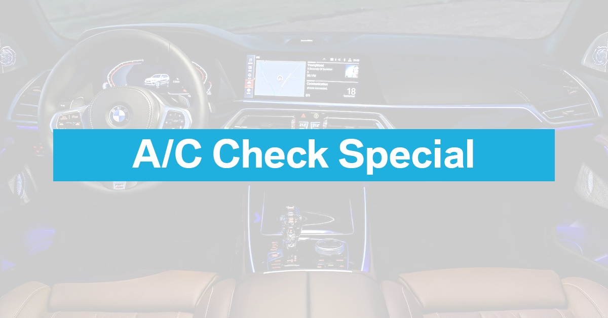 A/C Check Special on Select Vehicles